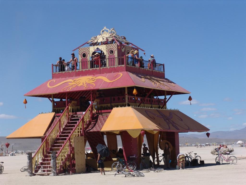 Asian pagoda,a popular Burning Man shelter